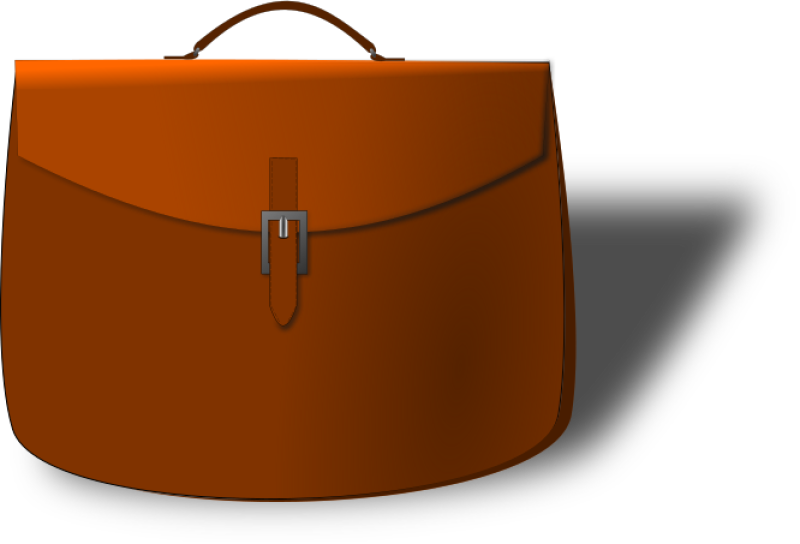 Leather Brief Case Clipart png free, Leather Brief Case transparent png