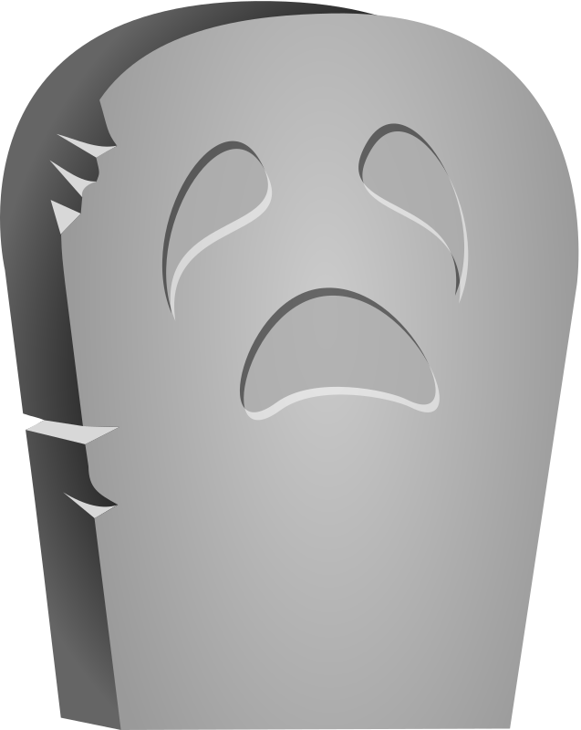 Halloween Tombstone Face Clipart png free, Halloween Tombstone Face transparent png
