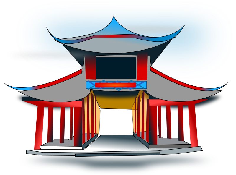 Chinese Architecure Clipart png free, Chinese Architecure transparent png