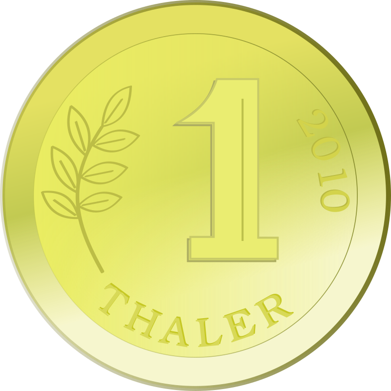 One Golden Coin Clipart png free, One Golden Coin transparent png