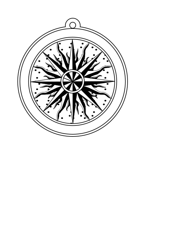 Compass Rose 1595 Clipart png free, Compass Rose 1595 transparent png