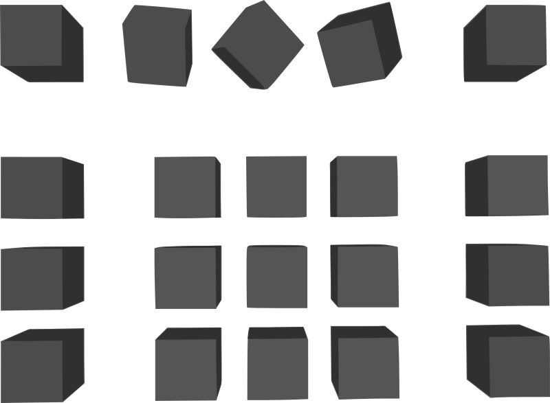 Simple Grey Cubes Clipart png free, Simple Grey Cubes transparent png