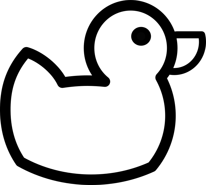 Duck Outline Clipart png free, Duck Outline transparent png