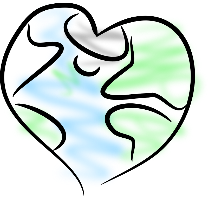 Earth Heart Clipart png free, Earth Heart transparent png
