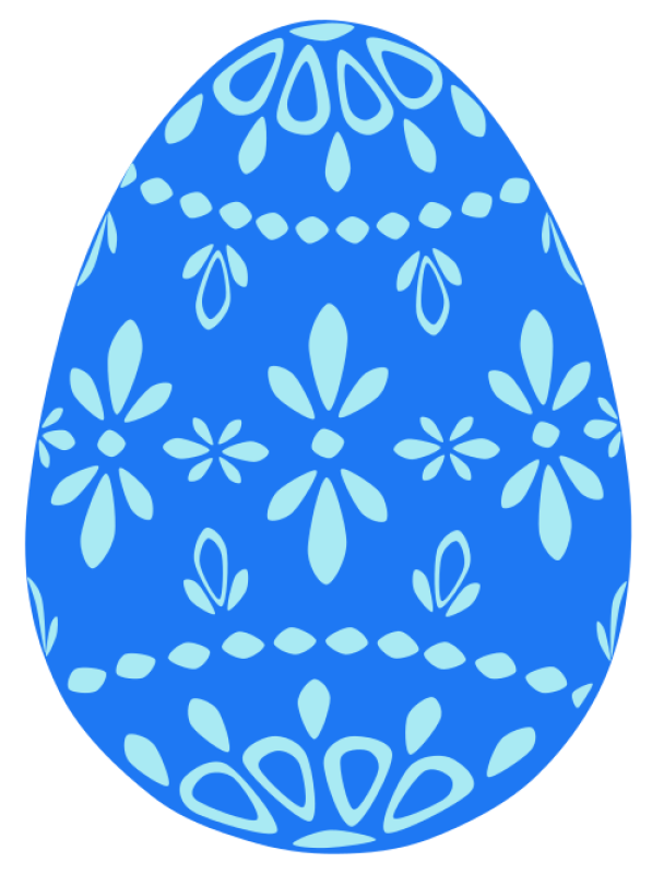 Easter Egg Blue Clipart png free, Easter Egg Blue transparent png