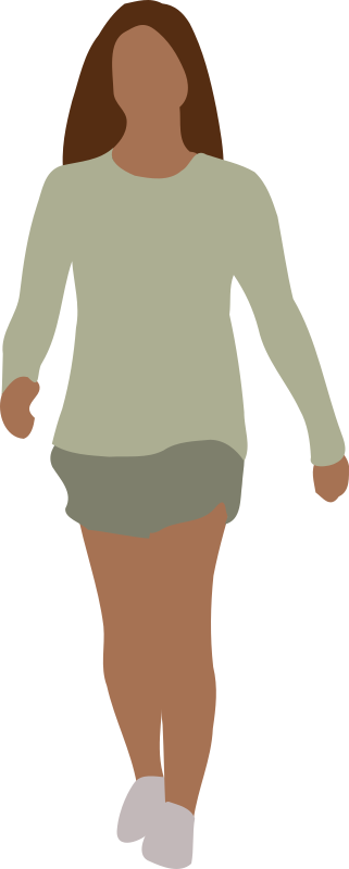 Faceless Woman Walking Clipart png free, Faceless Woman Walking transparent png