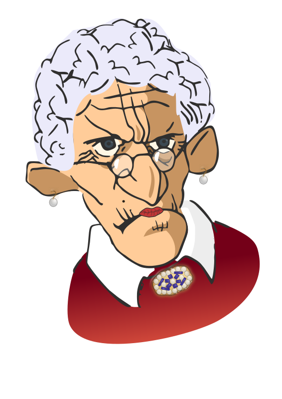 Wrinkled Woman Clipart png free, Wrinkled Woman transparent png