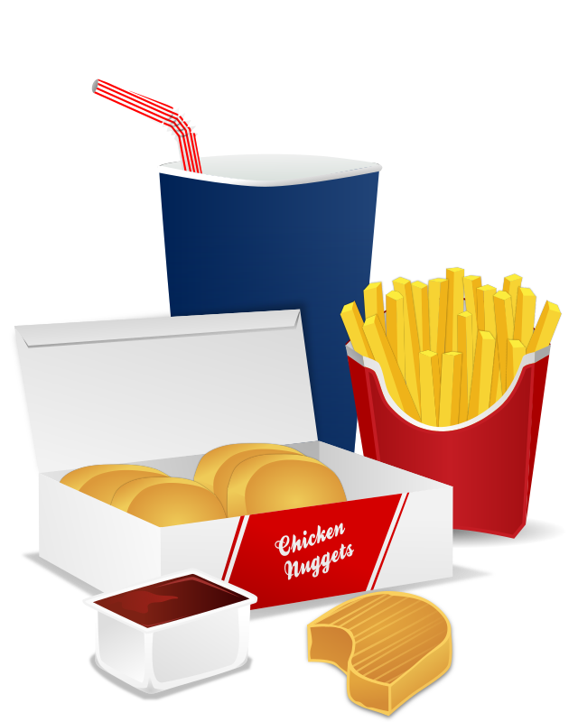Fast Food Menu Clipart png free, Fast Food Menu transparent png