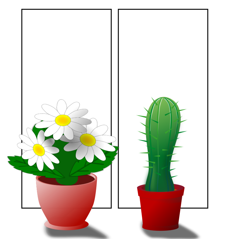 Window With Plants Clipart png free, Window With Plants transparent png