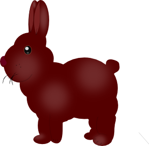 Chocolate Bunny Clipart png free, Chocolate Bunny transparent png
