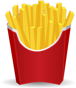 French Fries Clipart png free, French Fries transparent png