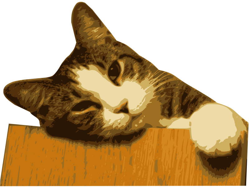 Relaxed Cat (Bg Removed) Clipart png free, Relaxed Cat (Bg Removed) transparent png