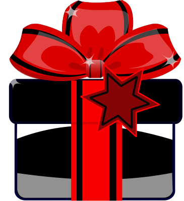 Gift Black Clipart png free, Gift Black transparent png