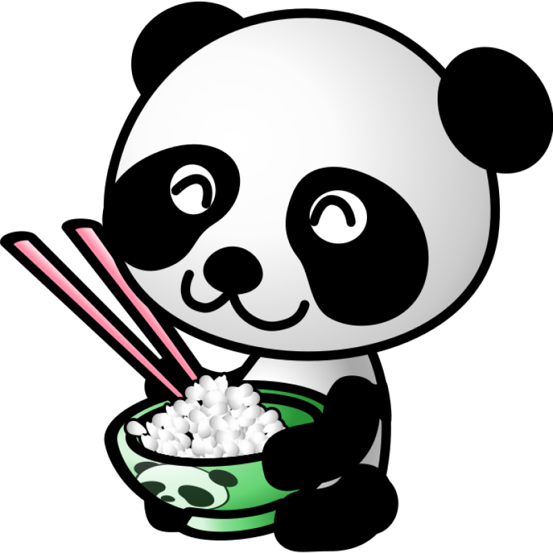Rice Panda Clipart png free, Rice Panda transparent png