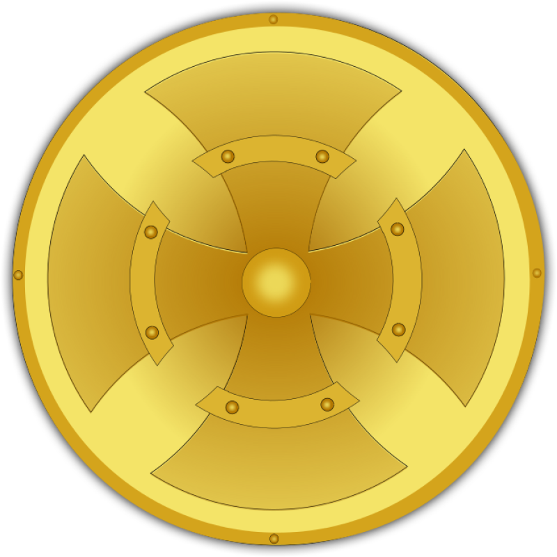 Golden Shield Clipart png free, Golden Shield transparent png