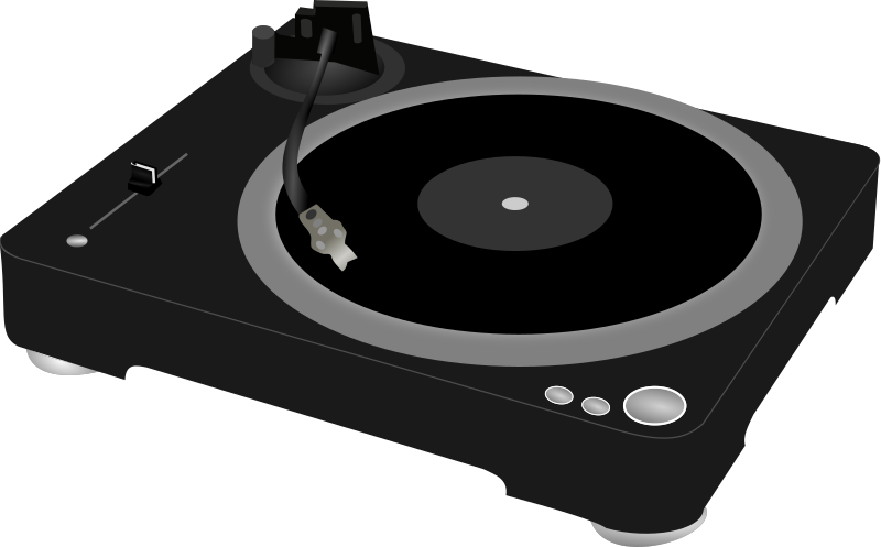 Dj Turntable Clipart png free, Dj Turntable transparent png