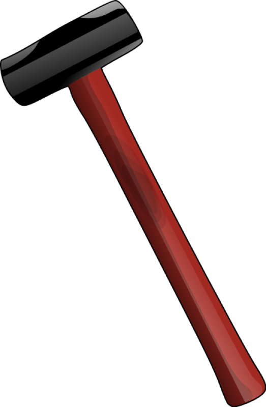 Red Sledge Hammer Clipart png free, Red Sledge Hammer transparent png