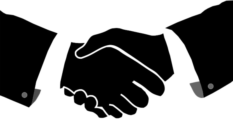 Hand Shake Clipart png free, Hand Shake transparent png