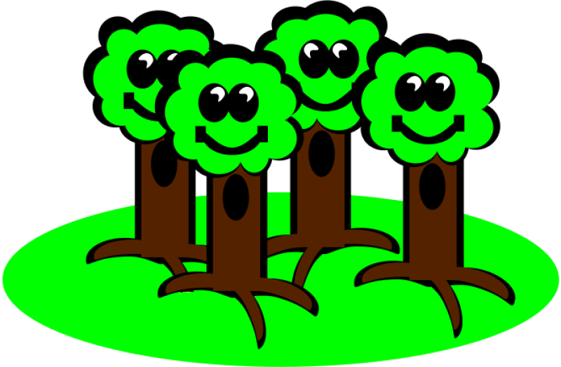 Happy Trees Clipart png free, Happy Trees transparent png