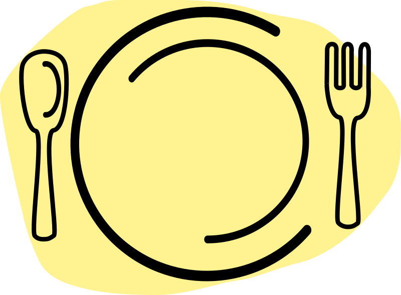 Dinner Plate With Spoon And Fork Clipart png free, Dinner Plate With Spoon And Fork transparent png