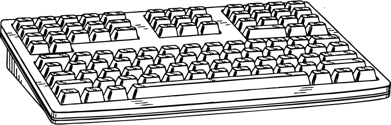 Computer Keyboard 1 Clipart png free, Computer Keyboard 1 transparent png