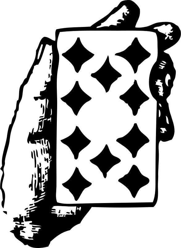 Hand With Ten Of Diamonds Clipart png free, Hand With Ten Of Diamonds transparent png