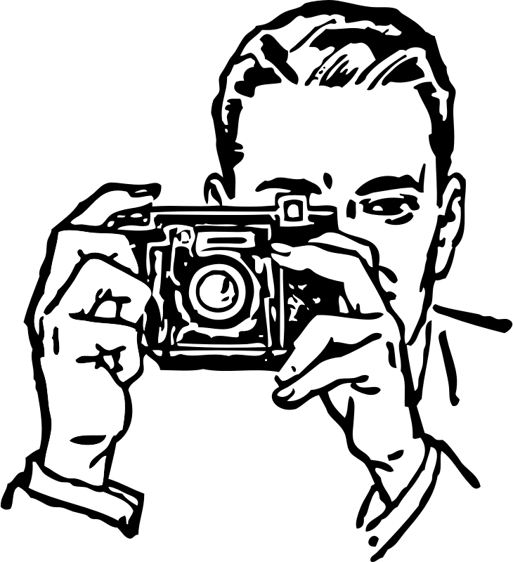Man With A Camera Clipart png free, Man With A Camera transparent png