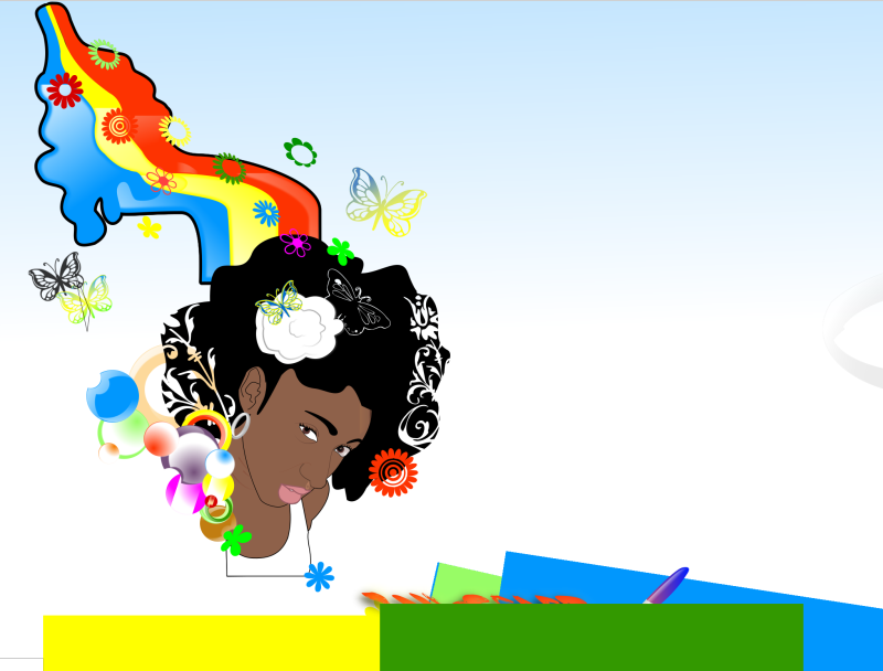 Black Woman Rainbow Clipart png free, Black Woman Rainbow transparent png