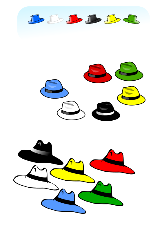 Six Hats Clipart png free, Six Hats transparent png