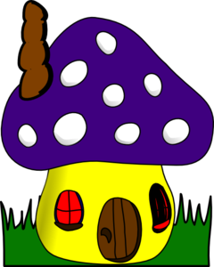 Mushroom House Clipart png free, Mushroom House transparent png