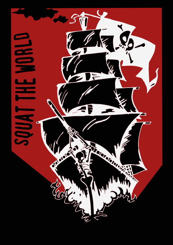 Squat The World - Pirate Ship Clipart png free, Squat The World - Pirate Ship transparent png