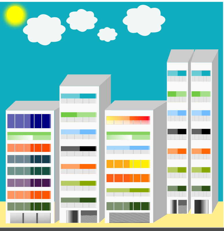 Simple City Skyscraper Clipart png free, Simple City Skyscraper transparent png