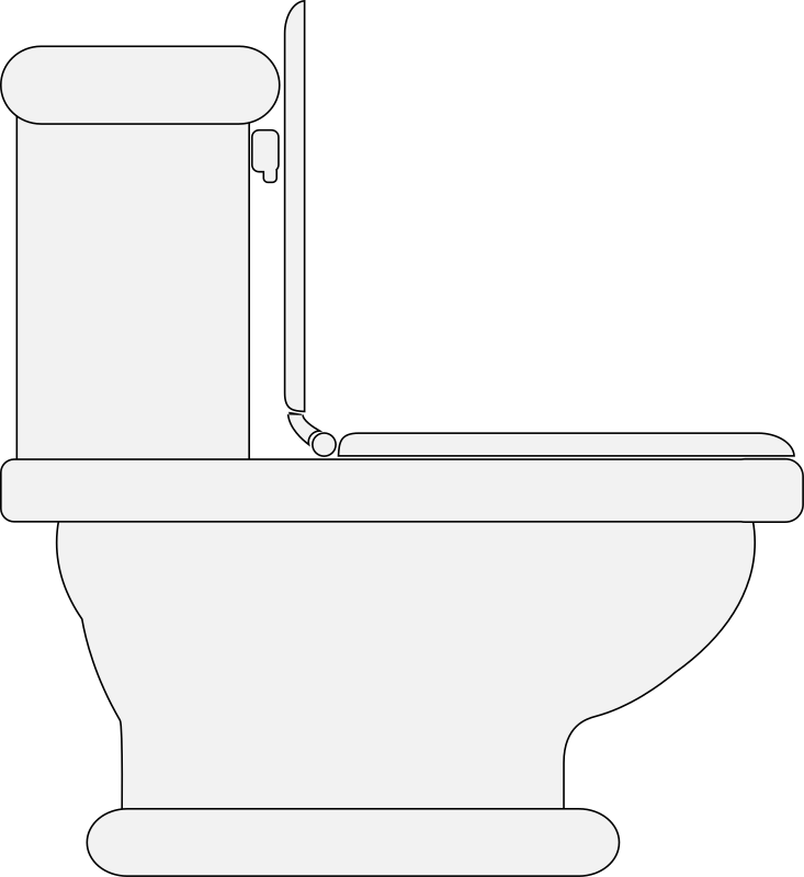 Toilet (Seat Open) Clipart png free, Toilet (Seat Open) transparent png
