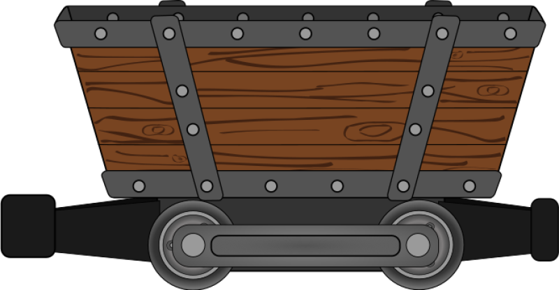Mine Mining Car Clipart png free, Mine Mining Car transparent png