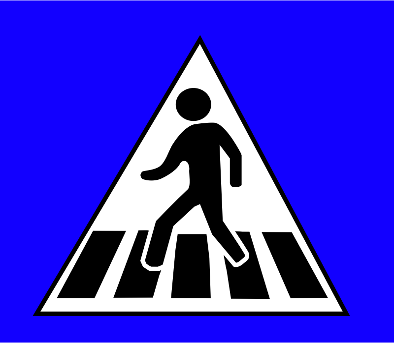 Crossing Traffic Sign Clipart png free, Crossing Traffic Sign transparent png