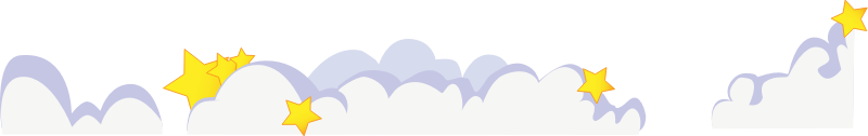 Cute Cartoon Clouds With Stars Clipart png free, Cute Cartoon Clouds With Stars transparent png