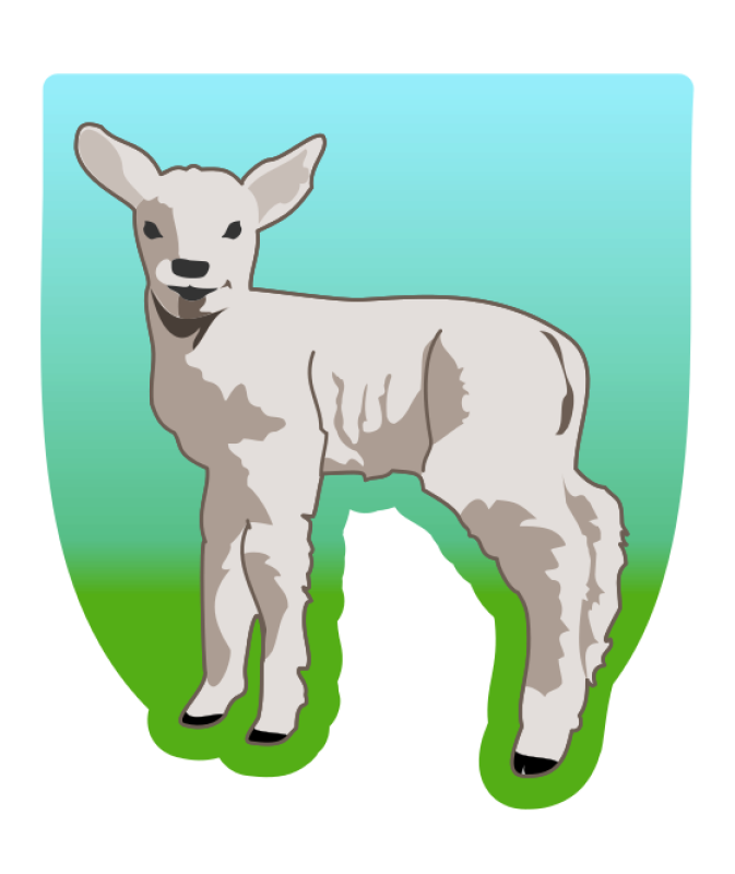 Young Lamb Clipart png free, Young Lamb transparent png
