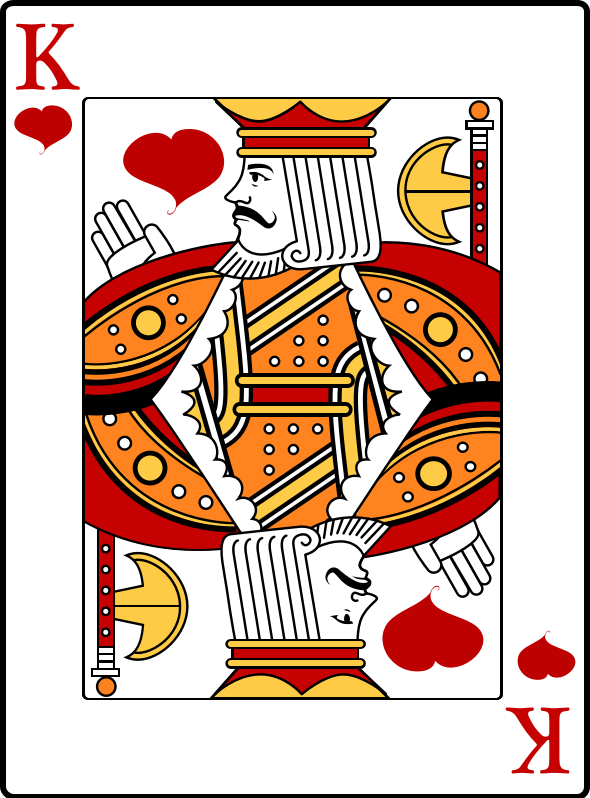 King Of Hearts Clipart png free, King Of Hearts transparent png