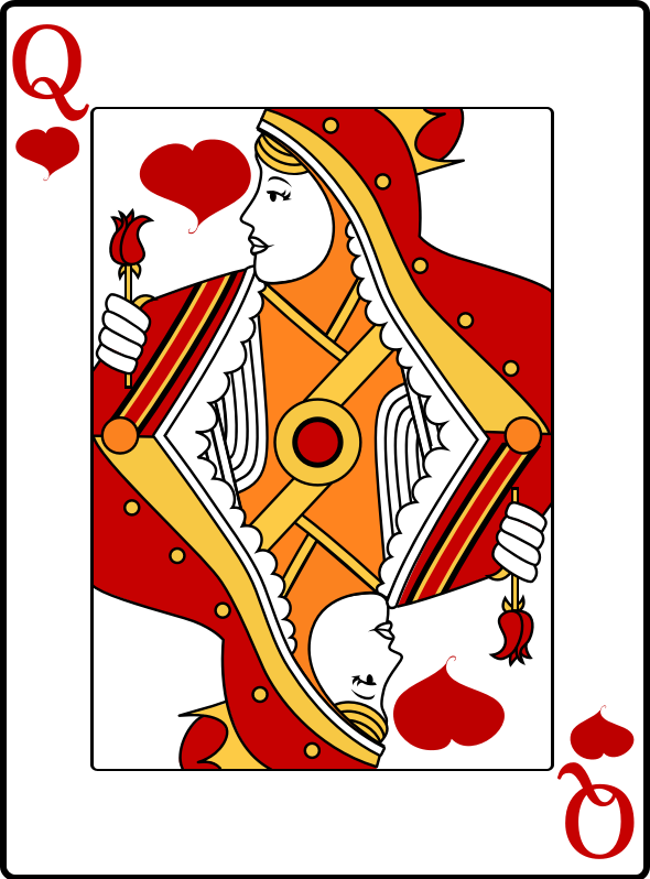 Queen Of Hearts Clipart png free, Queen Of Hearts transparent png