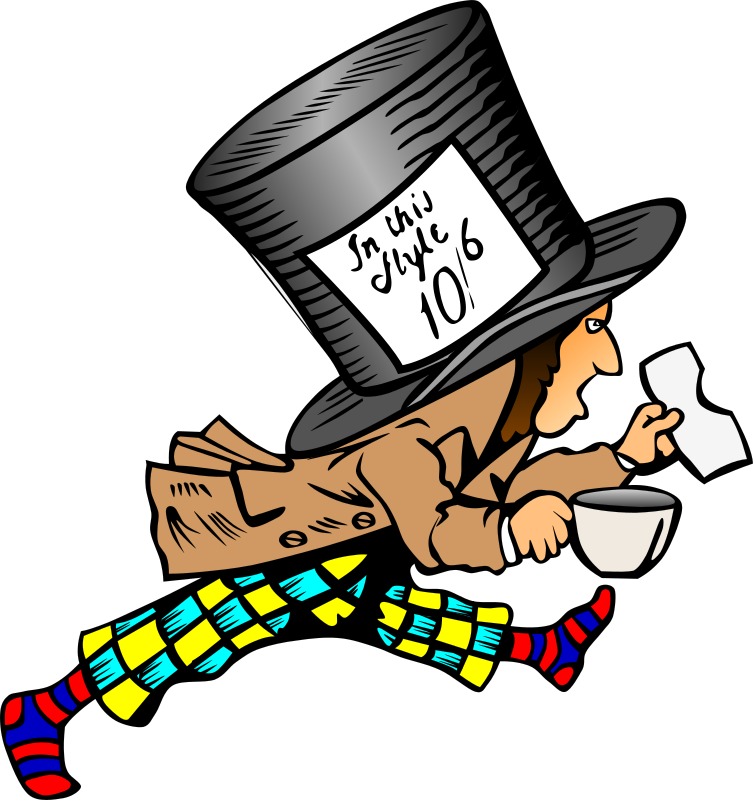 Mad Hatter With Label On Hat Clipart png free, Mad Hatter With Label On Hat transparent png