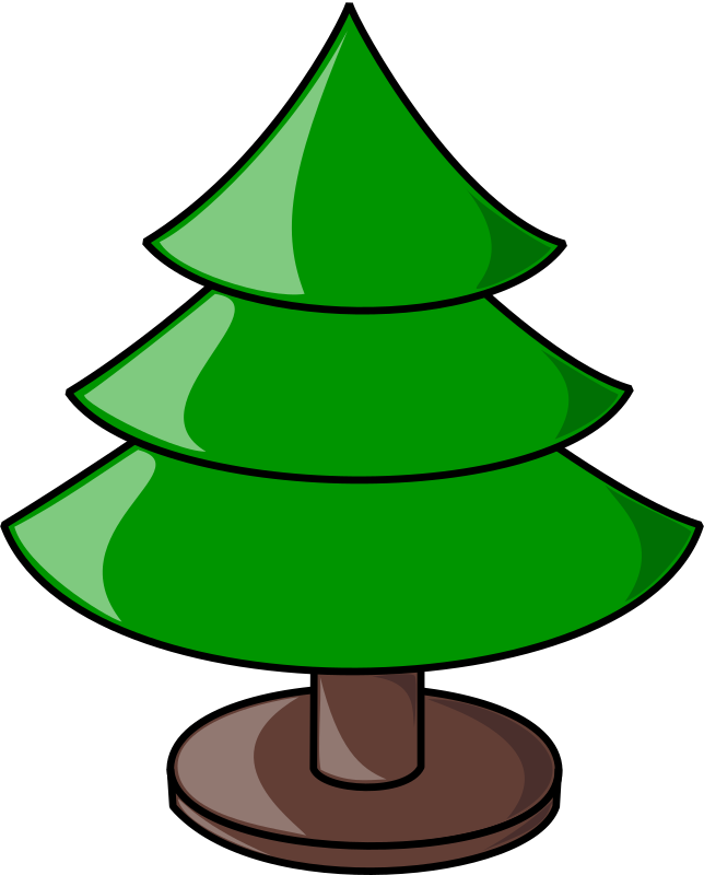 Christmas Tree (Plain) Clipart png free, Christmas Tree (Plain) transparent png