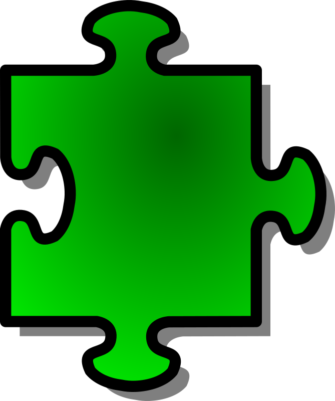 Green Jigsaw Piece 05 Clipart png free, Green Jigsaw Piece 05 transparent png
