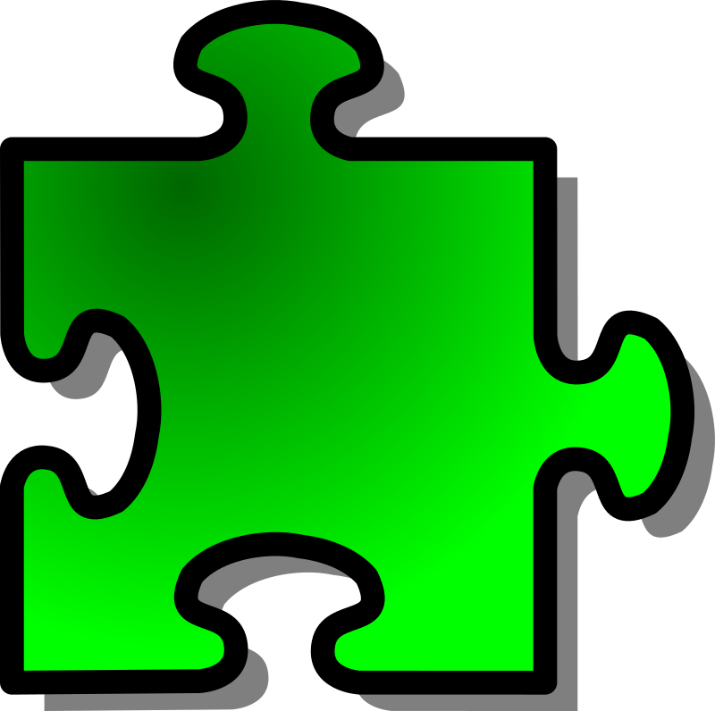 Green Jigsaw Piece 09 Clipart png free, Green Jigsaw Piece 09 transparent png