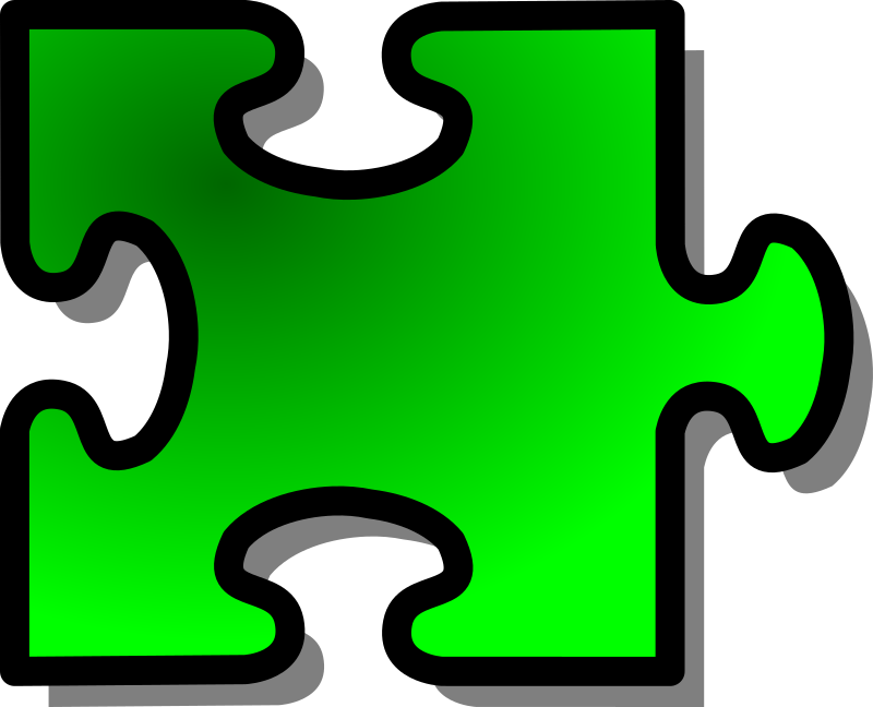 Green Jigsaw Piece 14 Clipart png free, Green Jigsaw Piece 14 transparent png