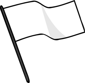 Waving White Flag Clipart png free, Waving White Flag transparent png