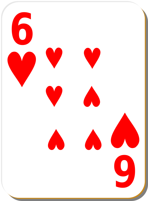 White Deck: 6 Of Hearts Clipart png free, White Deck: 6 Of Hearts transparent png