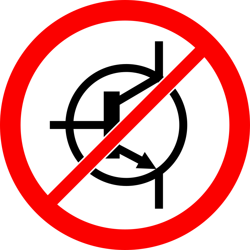 No Transistor Sign Clipart png free, No Transistor Sign transparent png
