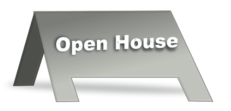 Open House Signage Clipart png free, Open House Signage transparent png