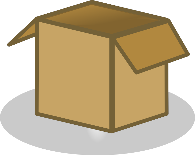 Open Box Clipart png free, Open Box transparent png