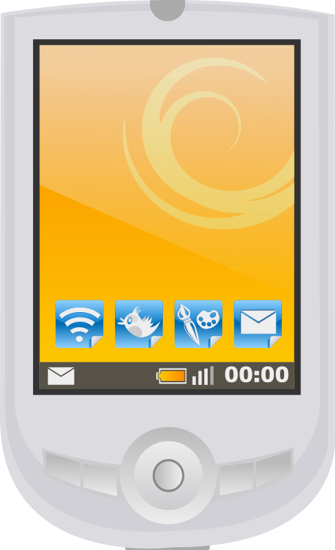 Modern Pda With Apps Clipart png free, Modern Pda With Apps transparent png